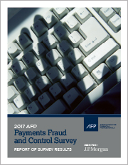 2017 AFP Payments Fraud and Control Survey
